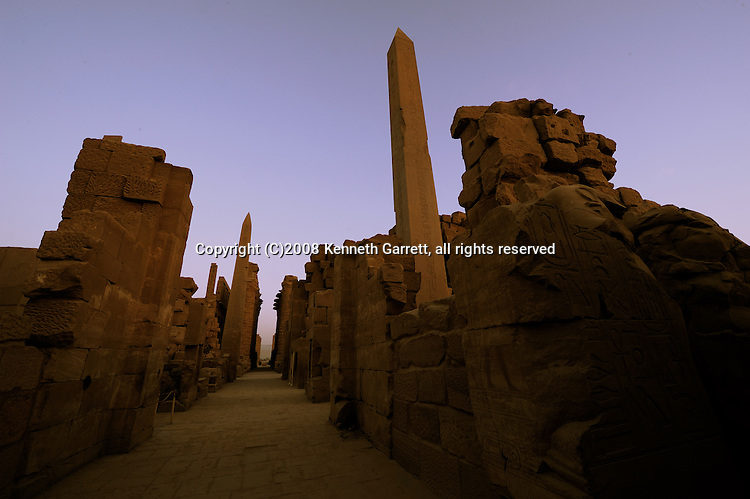 18th dynasty; Egypt; Hatshepsut; Hatshepsut Obelisk; Hypostyle hall; Karnak Temple; Luxor; MM7715; New Kingdom; sunrise