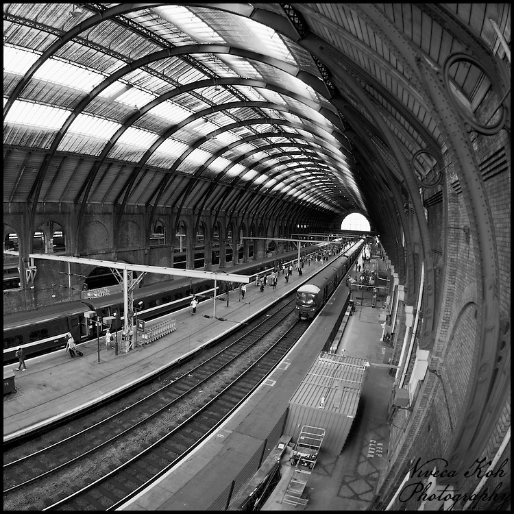 King's Cross station with a fisheye lens - NFS