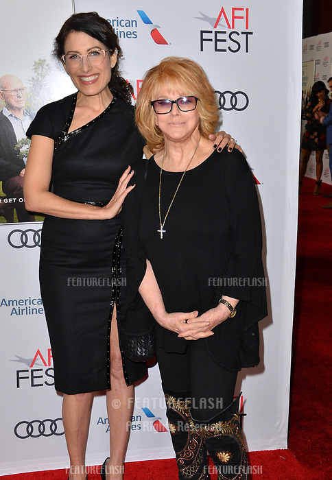 """LOS ANGELES, CA. November 10, 2018: Lisa Edelstein & Ann-Margret at the AFI Fest 2018 world premiere of """"The Kominsky Method"""" at the TCL Chinese Theatre.<br /> Picture: Paul Smith/Featureflash"""