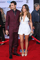 "HOLLYWOOD, LOS ANGELES, CA, USA - MARCH 13: Brett Dalton, Chloe Bennet at the World Premiere Of Marvel's ""Captain America: The Winter Soldier"" held at the El Capitan Theatre on March 13, 2014 in Hollywood, Los Angeles, California, United States. (Photo by Xavier Collin/Celebrity Monitor)"