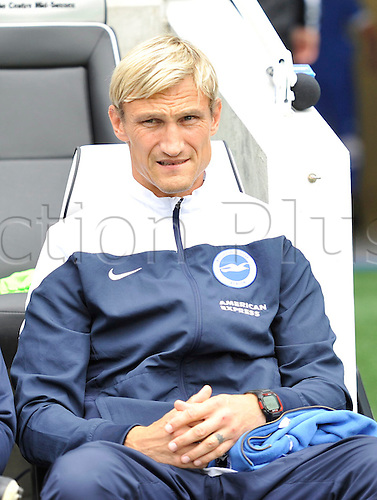 30.08.2014.  Brighton, England. Sky Bet Championship. Brighton and Hove Albion versus Charlton Athletic. Brighton Manager Sami Hyypia