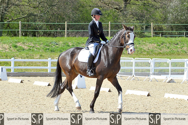 Class 4. Novice 38. Bitish Dressage. Brook Farm Training Centre. Essex. 12/04/2015. MANDATORY Credit Ellie Ingram/Sportinpictures - NO UNAUTHORISED USE - 07837 394578
