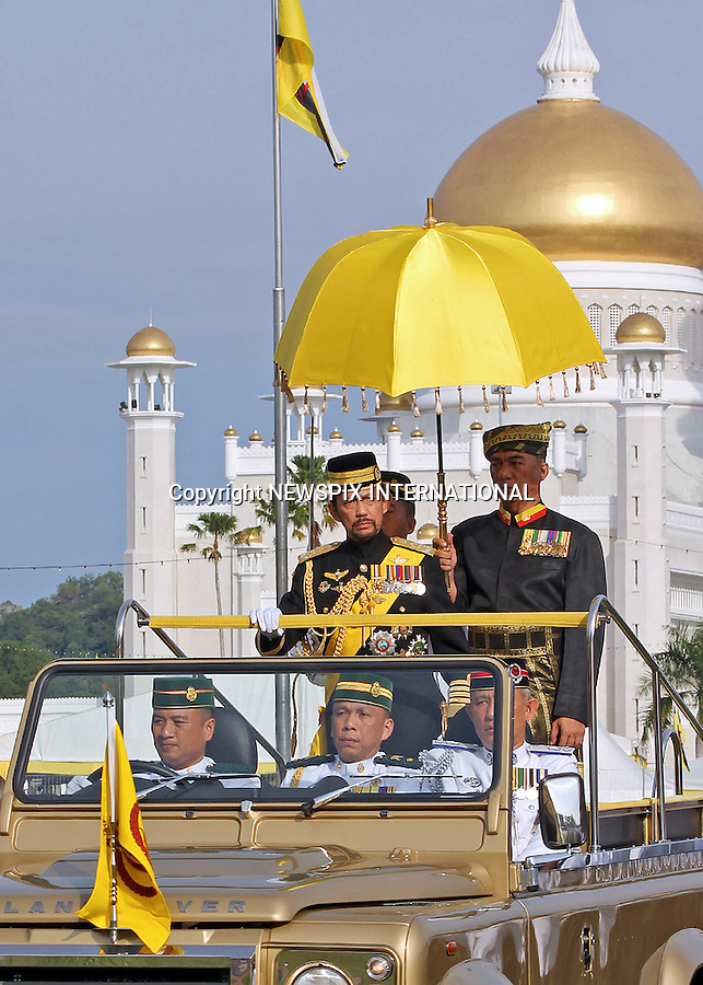 16.07.2016; Bandar Seri Begawan, Brunei: SULTAN HASSANAL BOLKIAH OF BRUNEI<br />attends a parade to celebrate his 70th Birthday.<br />The Sultan is ranked among the wealthiest individuals in the world.<br />Mandatory Photo Credit: &copy;NEWSPIX INTERNATIONAL<br /><br />PHOTO CREDIT MANDATORY!!: NEWSPIX INTERNATIONAL(Failure to credit will incur a surcharge of 100% of reproduction fees)<br /><br />IMMEDIATE CONFIRMATION OF USAGE REQUIRED:<br />Newspix International, 31 Chinnery Hill, Bishop's Stortford, ENGLAND CM23 3PS<br />Tel:+441279 324672  ; Fax: +441279656877<br />Mobile:  0777568 1153<br />e-mail: info@newspixinternational.co.uk<br />&ldquo;All Fees Payable To Newspix International&rdquo;