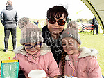Darcy and Rowen Kirby with their aunt Debbie Kirby at the Max Mason Memorial match at Seafields Laytown. Photo:Colin Bell/pressphotos.ie