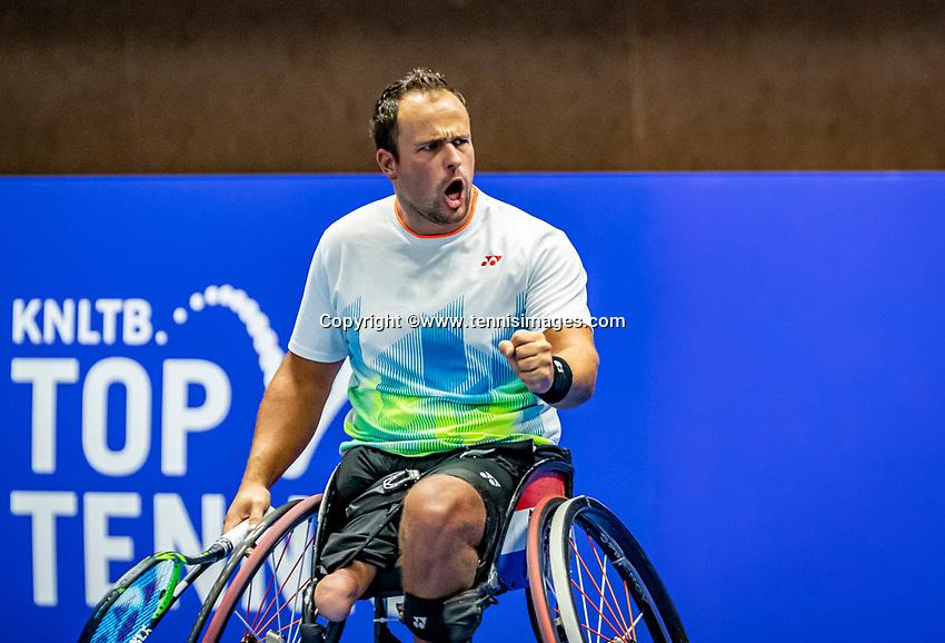 Alphen aan den Rijn, Netherlands, December 22, 2019, TV Nieuwe Sloot,  NK Tennis, Wheelchair final men single: Tom Egberink (NED) <br /> Photo: www.tennisimages.com/Henk Koster