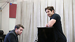 Kevin David Thomas and Nick Adams during the rehearsal for 'And The World Goes 'Round' - The Abingdon Theatre Company's 25th Anniversary Gala at the Pearl Studios on October 16, 2017 in New York City.