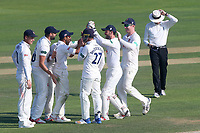 Ravi Bopara of Essex is congratulated by his team mates after running out Andrew Umeed during Essex CCC vs Warwickshire CCC, Specsavers County Championship Division 1 Cricket at The Cloudfm County Ground on 20th June 2017