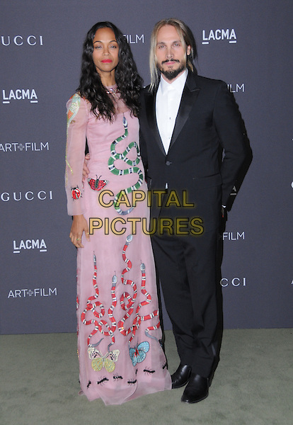 29 October 2016 - Los Angeles, California. Zoe Saldana, Marco Perego. 2016 LACMA Art+Film Gala honoring Robert Irwin and Kathryn Bigelow presented by Gucci held at LACMA.   <br /> CAP/ADM/BT<br /> &copy;BT/ADM/Capital Pictures