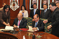 El Presidente Leonel Fernandez en el Encuentro con el Primer Ministro jordano y la firma de acuerdo entre cancillerías,  dominicana y Jordana