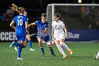 Boston, MA - Friday August 04, 2017: Angela Salem and Alexa Newfield during a regular season National Women's Soccer League (NWSL) match between the Boston Breakers and FC Kansas City at Jordan Field.