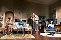 Absent Friends by Alan Ayckbourn, directed by Jeremy Herrin. With Katherine Parkinson as Diana, Elizabeth Berrington as Marge , Reece Shearsmith as Colin, Kara Tointon as Evelyn. Opens at The Harold Pinter Theatre   on 9/2/12 . CREDIT Geraint Lewis