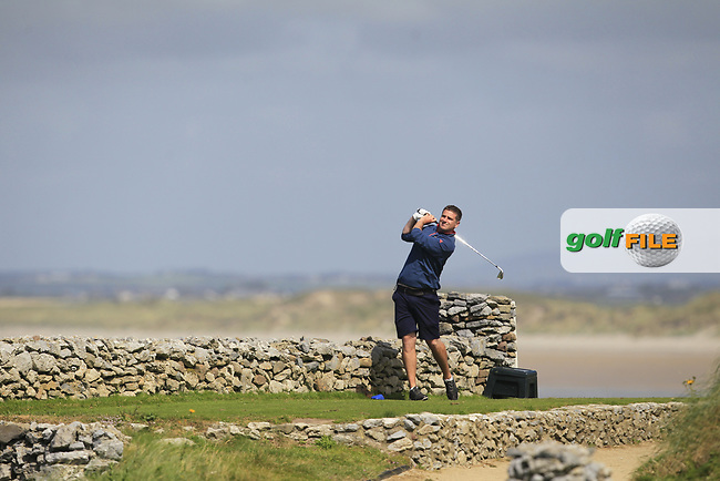Eoghan O'Donnell (Tralee) on the 3rd tee during the Munster Final of the AIG Barton Shield at Tralee Golf Club, Tralee, Co Kerry. 12/08/2017<br /> Picture: Golffile | Thos Caffrey<br /> <br /> <br /> All photo usage must carry mandatory copyright credit     (&copy; Golffile | Thos Caffrey)