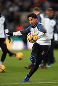9th December 2017, St James Park, Newcastle upon Tyne, England; EPL Premier League football, Newcastle United versus Leicester City; Shinji Okazaki of Leicester City during the pre-match warm-up