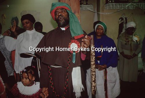 Mount Zion Spiritual Baptist Church. Uk Bishop Noel with Spirit Wand. He could cure cancer.