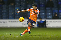 James Justin of Luton Town during the Sky Bet League 2 match between Luton Town and Cheltenham Town at Kenilworth Road, Luton, England on 31 January 2017. Photo by David Horn / PRiME Media Images