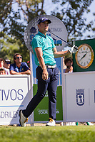 Borja Virto (ESP) on the 10th tee during the third round of the Mutuactivos Open de Espana, Club de Campo Villa de Madrid, Madrid, Madrid, Spain. 05/10/2019.<br /> Picture Hugo Alcalde / Golffile.ie<br /> <br /> All photo usage must carry mandatory copyright credit (© Golffile | Hugo Alcalde)