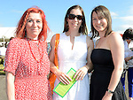 Sisters Nicola, Rachael and Gail Pierce pictured at Bellewstown races. Photo:Colin Bell/pressphotos.ie