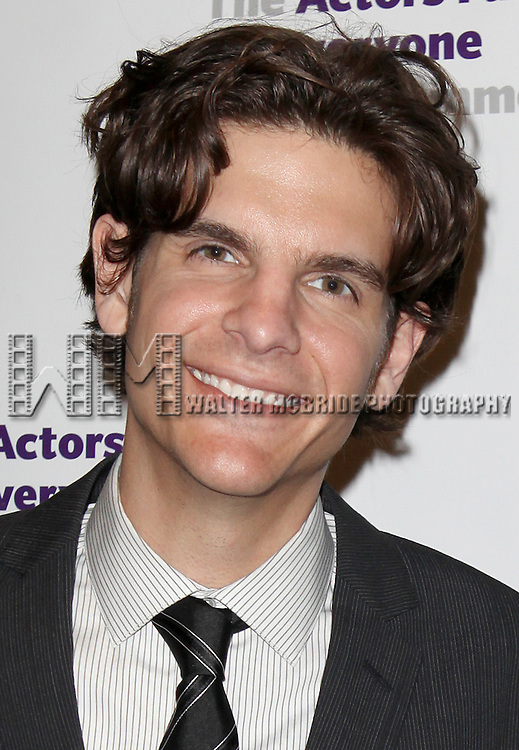 Alex Timbers.attending the Actors Fund Gala honoring Harry Belafonte, Jerry Stiller, Anne Meara & David Steiner at the Mariott Marquis Hotel in New York City on 5/21/12