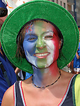 26 June 2006: An Italy fan. Italy (1st place in Group E) played Australia (2nd place in Group F) at Fritz-Walter Stadion in Kaiserslautern, Germany in match 53, a Round of 16 game, in the 2006 FIFA World Cup.