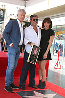 LOS ANGELES - AUG 22:  David Foster, Simon Cowell, Katharine McPhee at the Simon Cowell Star Ceremony on the Hollywood Walk of Fame on August 22, 2018 in Los Angeles, CA