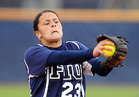 Florida International University right handed pitcher Mariah Dawson (23) plays against the University of Massachusetts which won the game 3-1 on February 11, 2012 at Miami, Florida. .