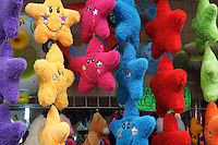 Star-shaped cuddly children's toys for sale in Merida, Yucatan, Mexico...