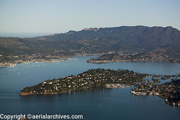 aerial photograph, Belvedere, Marin County, California