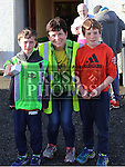 Jack Reade, Mary Reade and Andrew O'Reilly at the Annagassan 10km.<br /> <br /> <br /> Photo - Jenny Matthews