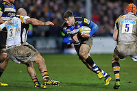 Matt Banahan of Bath Rugby goes on the attack. Aviva Premiership match, between Bath Rugby and Wasps on February 20, 2016 at the Recreation Ground in Bath, England. Photo by: Patrick Khachfe / Onside Images