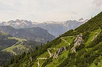Wanderweg auf den Jenner in den Alpen bei Berchtesgaden - Berchtesgaden 17.07.2019: Fahrt auf den Jenner
