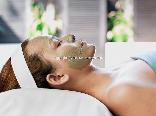 A woman receives a Visaya Facial, the signature facial treatment at Visaya Spa, FCC Angkor hotel, Siem Reap, Cambodia.