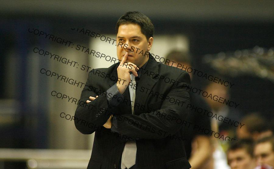 Kosarka, Eurocup, season 2008/09.Crvena Zvezda Vs. Turow (Poland).Head coach Saso Filipovski.Beograd, 09.12.2008..foto: Srdjan Stevanovic/starsportphoto ©