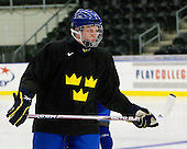 Martin Karlsson (Sweden - 11) - Team Sweden practiced at the Urban Plains Center in Fargo, North Dakota, on Saturday, April 18, 2009 in the morning prior to their final match against the Czech Republic during the 2009 World Under 18 Championship.