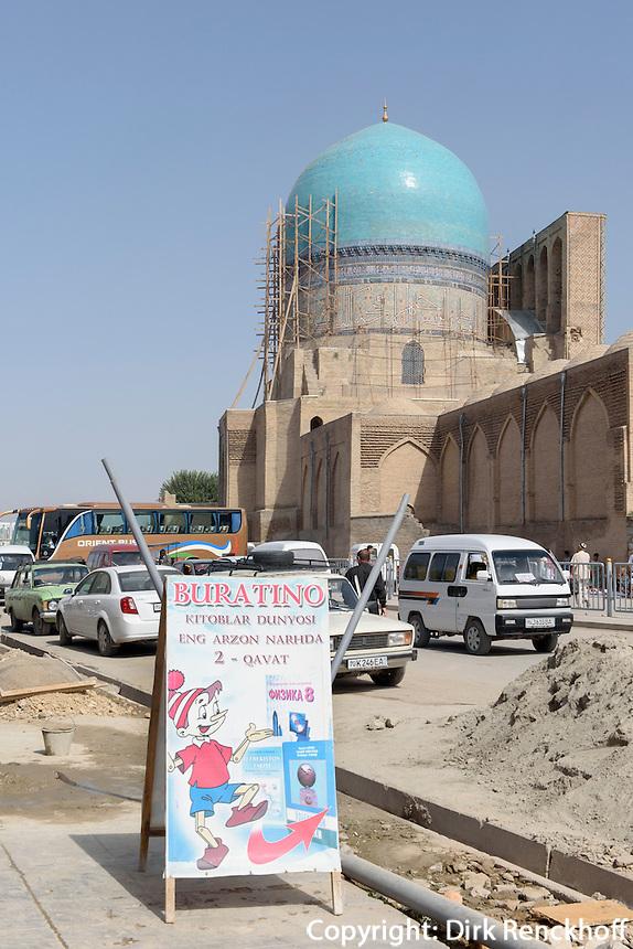 Qoq Gumbaz Moschee (Blaue Moschee), Shar e Sabs, Usbekistan, Asien, UNESCO-Weltkulturerbe<br /> Qoq Gumbaz mosque (blue mosque), Shar e Sabs,  Uzbekistan, Asia, UNESCO heritage site