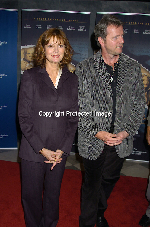 "Susan Sarandon and Aidan Quinn ..at The New York Permiere of the Court TV Original Movie   ""The Exonerated"" at The Museum of TV and Radio on ..January 25, 2005. ..Photo by Robin Platzer, Twin Images"