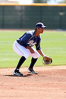 Cole Figueroa, San Diego Padres minor league spring training..Photo by:  Bill Mitchell/Four Seam Images.