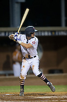 Kennon Menard (2) of the High Point-Thomasville HiToms at bat against the Asheboro Copperheads at Finch Field on June 12, 2015 in Thomasville, North Carolina.  The HiToms defeated the Copperheads 12-3. (Brian Westerholt/Four Seam Images)