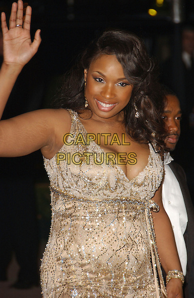 JENNIFER HUDSON.The 2007 Vanity Fair Oscar Party Hosted by Graydon Carter held at Morton's, West Hollywood, California, USA, 25 February 2007..oscars half length hand waving.CAP/ADM/GB.©Gary Boas/AdMedia/Capital Pictures.