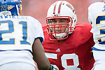 Wisconsin Badgers offensive lineman Ricky Wagner (58) during an NCAA college football game against the San Jose State Spartans on September 11, 2010 at Camp Randall Stadium in Madison, Wisconsin. The Badgers beat San Jose State 27-14. (Photo by David Stluka)