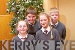 Ellen Moriarty, Max Downing, Jane Doyle and Harry Ewing from St. Brendans Fenit at the Tralee Credit Union Primary Schools Quiz, held at Ballyroe Heights Hotel on Sunday