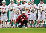 March 16, 2013:  University of Denver head coach, Bill Tierney, during action against the Notre Dame Fighting Irish during the Whitman's Sampler Mile High Classic, Sports Authority Field at Mile High, Denver, Colorado.  Notre Dame defeats Denver 13-12 in overtime.