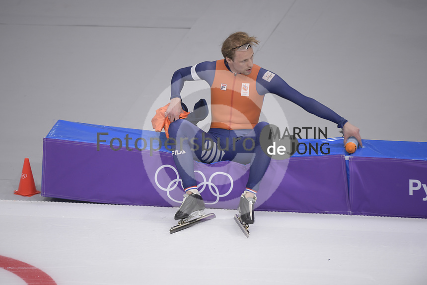 OLYMPIC GAMES: PYEONGCHANG: 19-02-2018, Gangneung Oval, Long Track, 500m Men, Ronald Mulder (NED), ©photo Martin de Jong