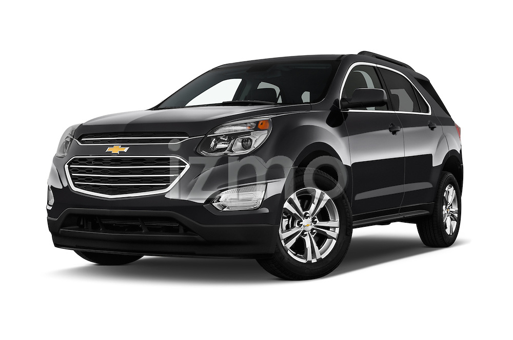 Stock pictures of low aggressive front three quarter view of 2016 Chevrolet Equinox LT 5 Door Suv Low Aggressive