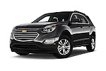 Stock pictures of low aggressive front three quarter view of 2017 Chevrolet Equinox LT 5 Door Suv Low Aggressive