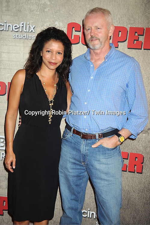 "David Morse, Gloria Reuben  attend the BBC America premiere of The New York 1860's Crime Drama ""Copper"" on August 15, 2012 at MoMa in New York City."