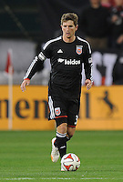 Washington, D.C.- March 29, 2014. Bobby Boswell (32) of D.C. United.  D.C. United defeated the New England Revolution 2-0 during a Major League Soccer Match for the 2014 season at RFK Stadium.