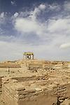 Israel, Negev desert, Tel Beer Sheba, the city gate complex of the Biblical city of Beer Sheba, UNESCO World Heritage Site