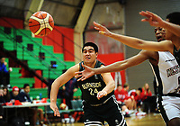 Action from the 2017 AA Boys' Secondary Schools Basketball Premiership National Championship match between Westlake Boys' High School (green and white) and Burnside High School (black) at the B&M Centre in Palmerston North, New Zealand on Wednesday, 4 October 2017. Photo: Dave Lintott / lintottphoto.co.nz