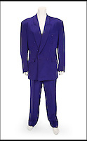 BNPS.co.uk (01202 558833)<br /> Pic: Juliens/BNPS<br /> <br /> ***Please use full byline***<br /> <br /> A suit worn by David Hasselhoff on &ldquo;The Tonight Show With Jay Leno&rdquo; on April 13, 1995 made by Bon Choix Couture.<br /> <br /> The futuristic talking sportscar driven by TV legend David Hasselhoff in cult show Knight Rider is among a &pound;100,000 archive of the star's possessions up for sale.<br /> <br /> Hasselhoff has also put his iconic red lifeguard jacket from hit programme Baywatch on the market alongside a bizarre, oversized statue of himself.<br /> <br /> The actor, known as The Hoff, shot to fame in 1982 in Knight Rider as crime fighter Michael Knight.<br /> <br /> Knight's partner was an artificially intelligent supercar called Knight Industries Two Thousand - or KITT for short.