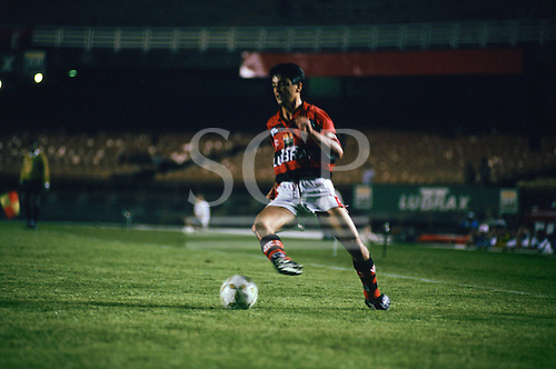 Rio de Janeiro, Brazil. Bebeto, Flamengo v Atletico  Mineiro, Maracana Stadium.